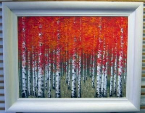 Burnt Sienna - White Frame - Framed