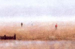 Beach With Figures I - Mounted
