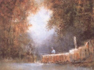Fishing From Staithe - Mounted