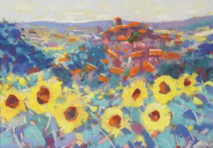 Sunflowers Provence - Framed
