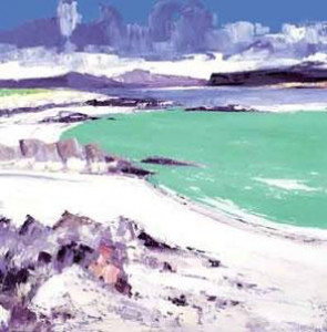 monks strand - iona - mounted