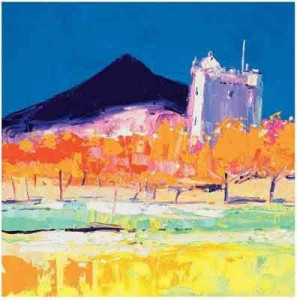 moy castle, isle of mull - mounted
