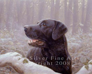 Black Labrador: Frozen Breath - Print