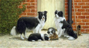 family ties - border collies - print