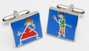 painting the town red too - cufflinks