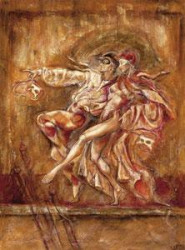 Two Dancers - On Canvas