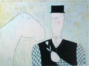 horse & flower - mounted