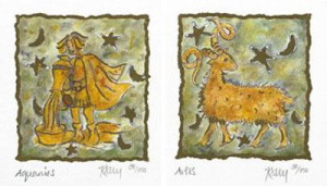 Horoscope Diptych - Mounted