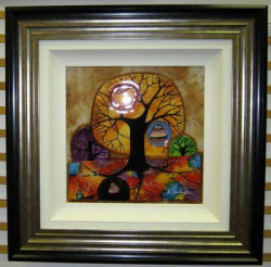 Living Tree - Original - Black-Silver Framed