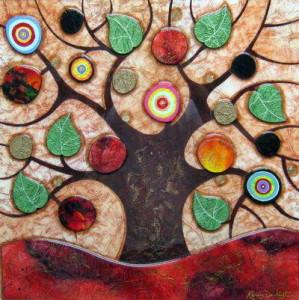 tree of life - square ii - framed
