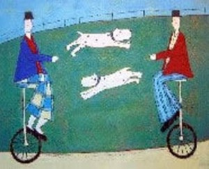 jumping dogs - print only