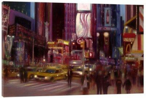 lights of broadway - box canvas