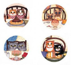 Greedy Cats (Set of 4)