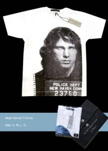 most wanted t-shirt - jim morrison