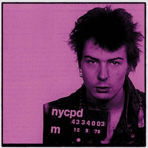 sid vicious - mounted