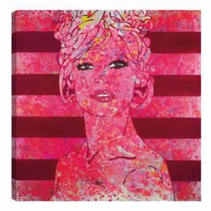 kiss me (blush) - box canvas
