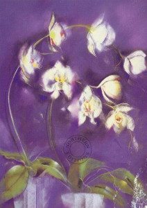 purple orchid - mounted