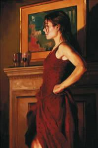 the red dress - mounted