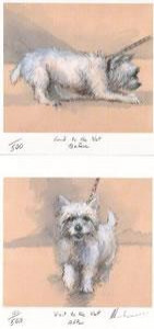 visit to the vets, before and after (pair) - print