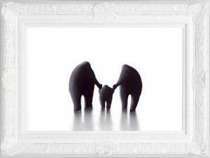 mummy, daddy and me - framed