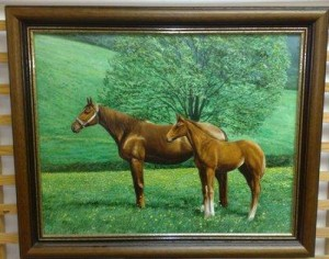 mother & foal - framed
