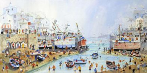 Summer Harbour - Mounted