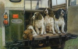 Four By Four - Springer Spaniels - Mounted