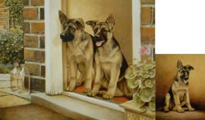 home guard & young winston - pair - print
