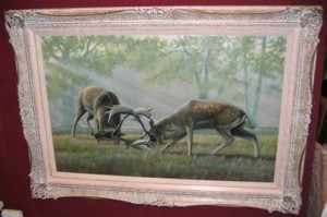 the intruder - stags - framed