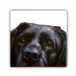 Lab (Canvas) - Black Labrador - Box Canvas