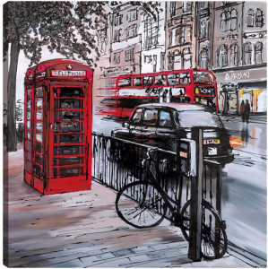 Streets of London - Box Canvas