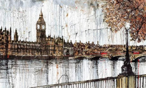 On The Thames - Box Canvas