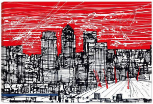 millennium skyline - box canvas