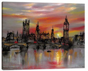 Waters Of Westminster - Box Canvas