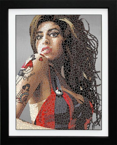 tears dry on their own (winehouse) - framed
