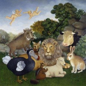 the peaceable kingdom - mounted