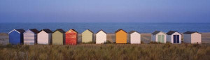 beach huts - mounted