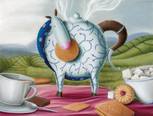 High Tea Hee-Haw - Canvas With Slip