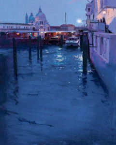 moonlight venice iii - mounted
