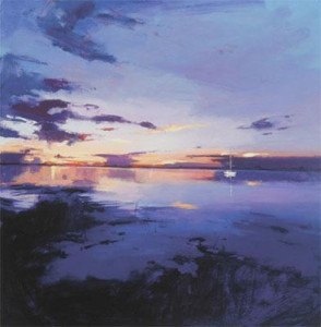 As Night Steals Across The Purple Shores - Mounted