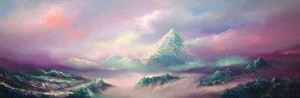 above the clouds - mounted