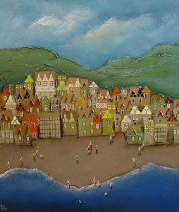 Beach Houses - Canvas - Unstretched Canvas
