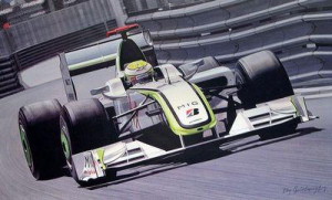 on top of the world - jenson button - print