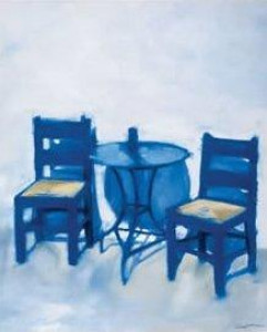 The Blue Table - Mounted