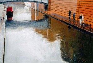 Canalside Reflection - Mounted