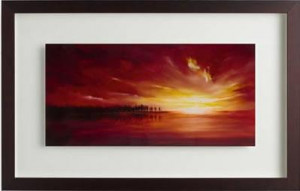scarlet sunrise ii - framed