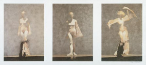white dancers triptych - mounted