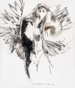 study for floating angel 11 - print