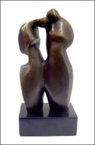 lovers - sculpture - bronze