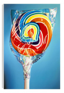 still life - rainbow swirl (canvas) - box canvas